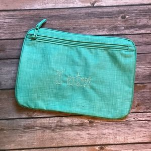 Thirty-One Pocket a Tote in Turquoise Cross Pop